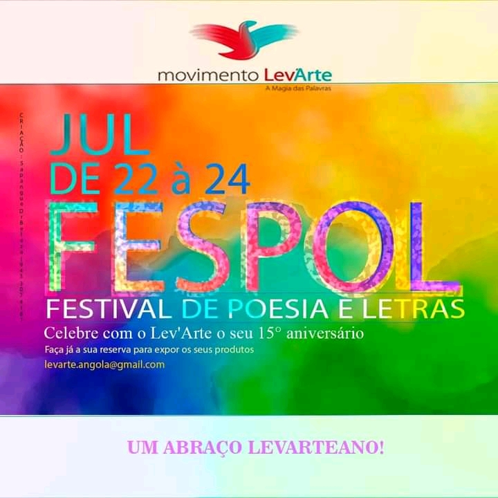 """Movimento Literário Lev""""Arte organiza Festival de Poesia e Letras"""