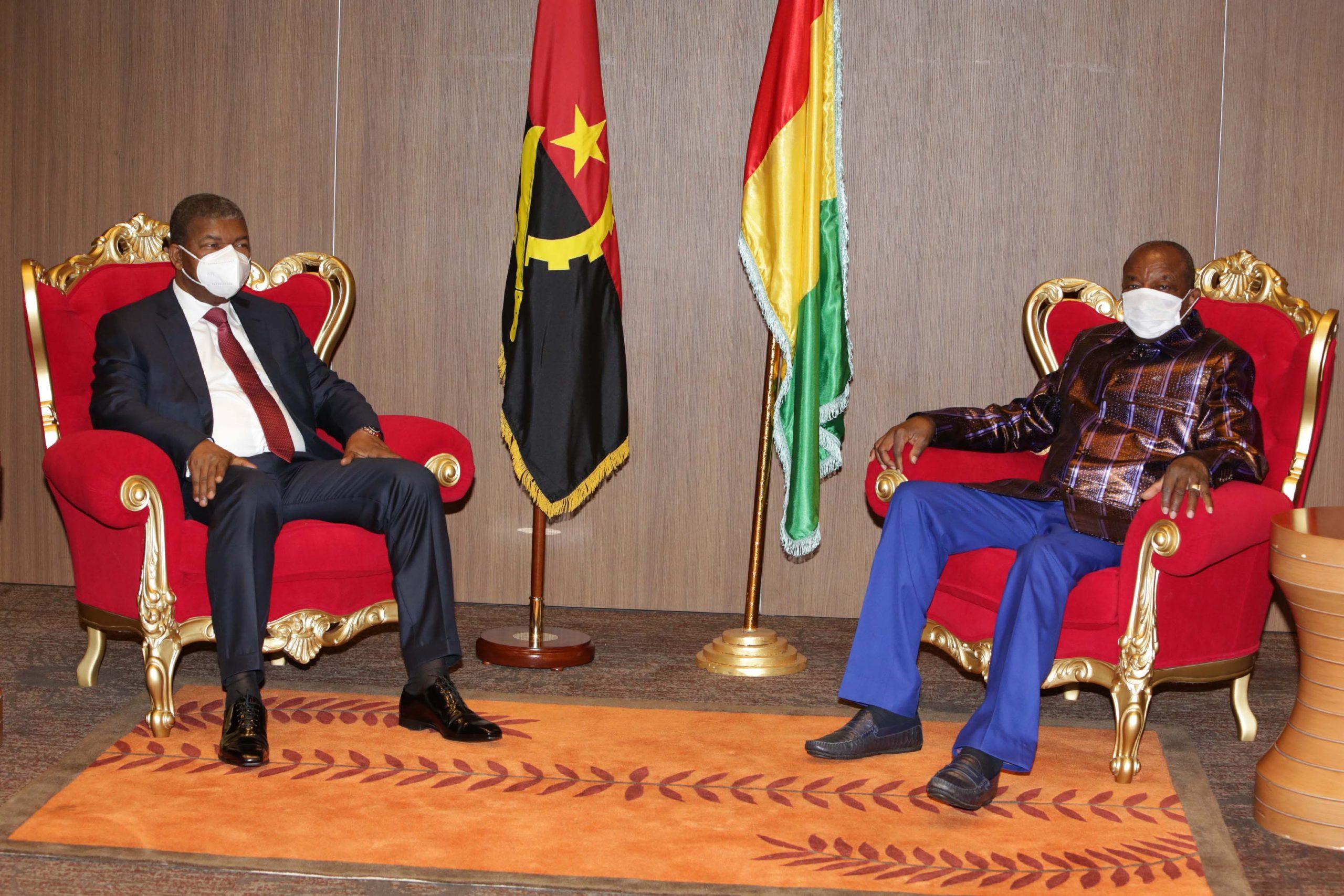 Presidente da República analisa cooperação bilateral com Alpha Condé, Presidente da Guiné