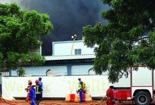 Incêndio de camião limita circulação rodoviária em Luanda